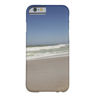 Beautiful view of beach against clear sky 3 barely there iPhone 6 case