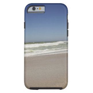 Beautiful view of beach against clear sky 3 tough iPhone 6 case