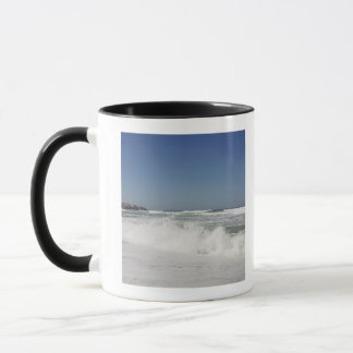 Beautiful view of beach against clear sky mug