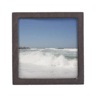 Beautiful view of beach against clear sky premium jewelry box