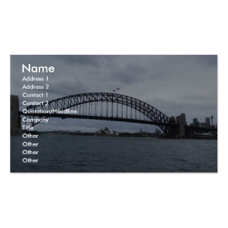 Beautiful View Of The Bridge In Sydney Australia Business Cards