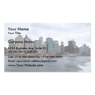 Beautiful View Of The City With High Buildings Acr Business Cards