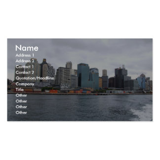 Beautiful View Of The City With High Buildings Acr Business Card Templates