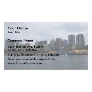 Beautiful View Of The City With High Buildings Acr Business Card