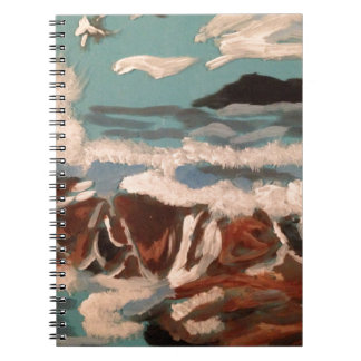 Beautiful view of the sea spiral notebooks