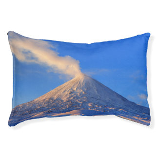 Beautiful view of winter volcanic landscape