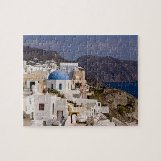 Beautiful village of Oia with white buildings Jigsaw Puzzle