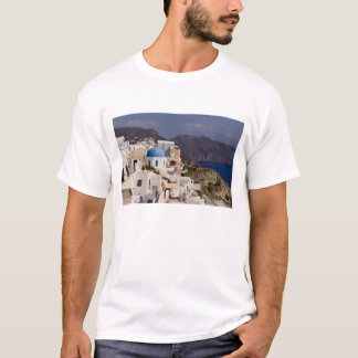 Beautiful village of Oia with white buildings T-Shirt