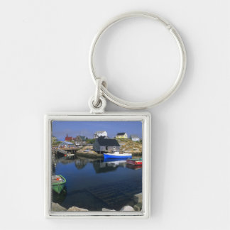 Beautiful village of Peggy's Cove with harbor Key Ring
