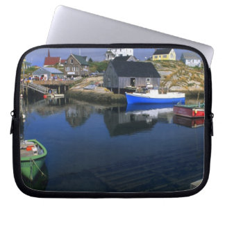 Beautiful village of Peggy's Cove with harbor Laptop Sleeve