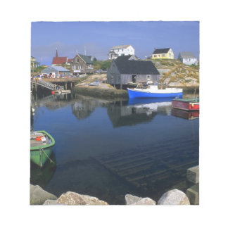 Beautiful village of Peggy's Cove with harbor Notepad