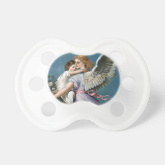 Beautiful Vintage Angel and Child Heavens Art Baby Pacifier