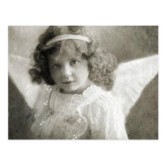 Beautiful Vintage Angel Girl Postcard