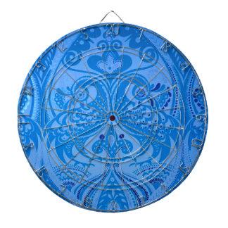 beautiful vintage birds blue pattern image print dartboard