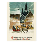 Beautiful vintage Christmas card Postcard