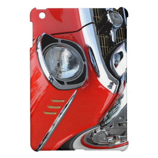 beautiful vintage classic red car case for the iPad mini