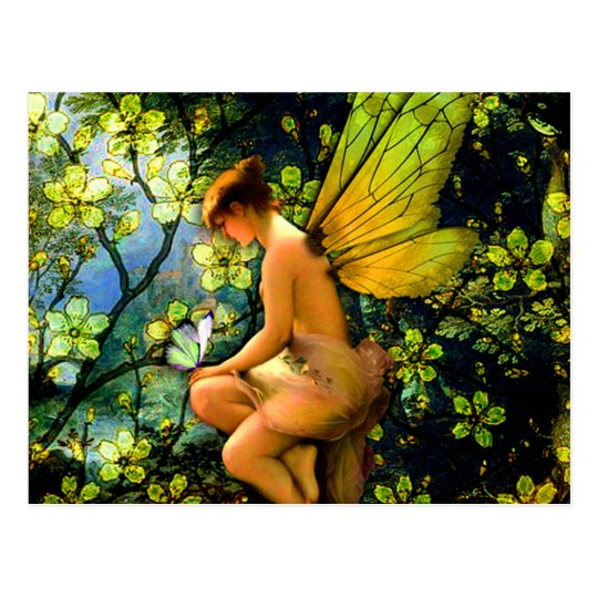 Beautiful Vintage Fairy Postcard