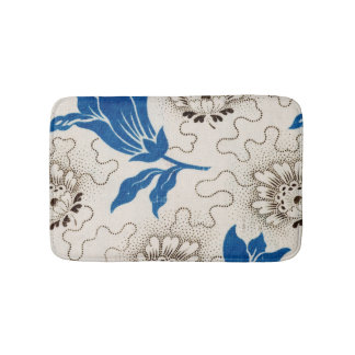 Beautiful Vintage Floral Pattern on Bath Mat