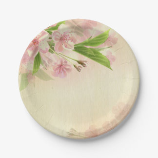 beautiful,vintage,floral,pattern,victorian,chic, 7 inch paper plate