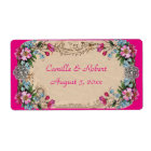 Beautiful Vintage Floral, Wine Bottle Labels