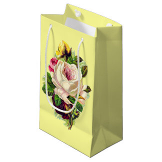 Beautiful Vintage Girly Floral Art Small Gift Bag