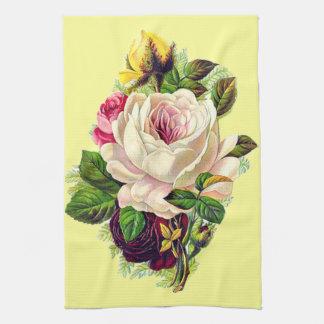 Beautiful Vintage Girly Floral Art Tea Towel