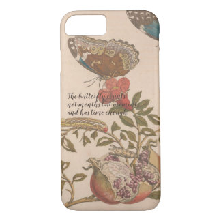 Beautiful vintage illustrated butterfly phone case