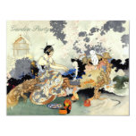 Beautiful Vintage Japanese Birthday Garden Party 11 Cm X 14 Cm Invitation Card