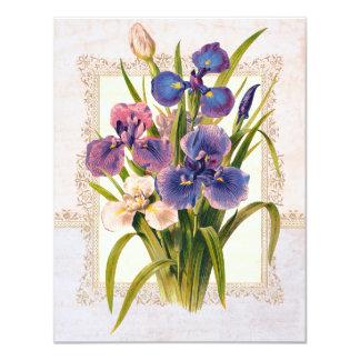 Beautiful Vintage Japanese Irises Invitations