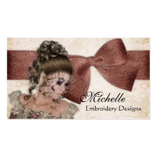 Beautiful Vintage Lady 3 Business Cards