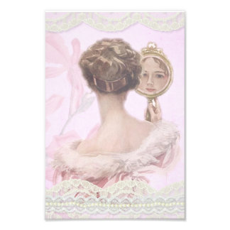 Beautiful Vintage Lady In Pink Photo Print