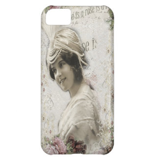 Beautiful Vintage Lady with Jewels Flowers iPhone 5C Case