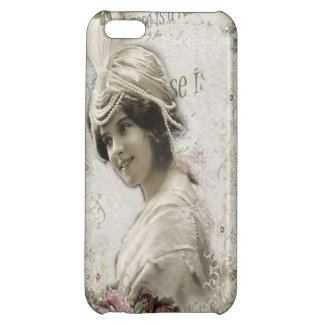 Beautiful Vintage Lady with Jewels Flowers iPhone 5C Covers