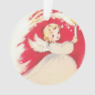 Beautiful Vintage Mid Century Mod Retro Angel Ornament