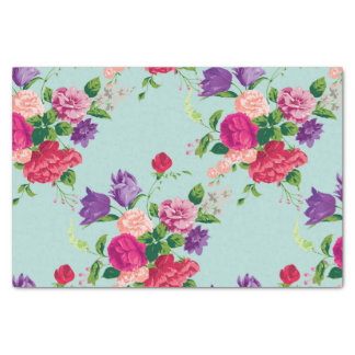 beautiful,vintage,mint,floral,pink,cute,girly,chic tissue paper
