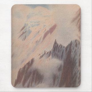 Beautiful vintage mountain view landscape mouse pad