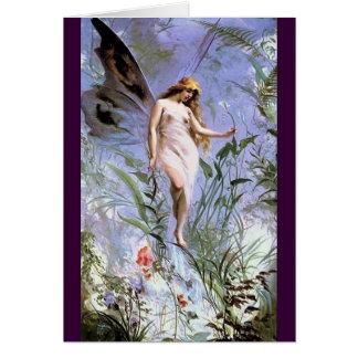 Beautiful Vintage Nature Fairy Greeting Card