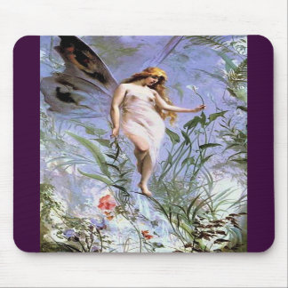 Beautiful Vintage Nature Fairy Mouse Pads