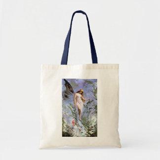Beautiful Vintage Nature Fairy Budget Tote Bag