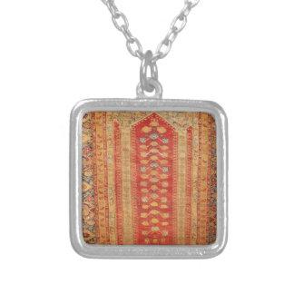 Beautiful Vintage Ottoman Era Islamic motif fabric Personalized Necklace