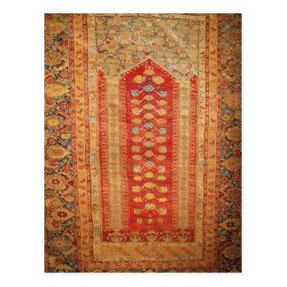 Beautiful Vintage Ottoman Era Islamic motif fabric Postcard