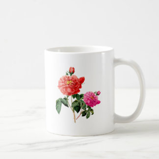beautiful vintage red and pink rose flowers coffee mugs