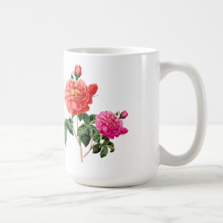 beautiful vintage red and pink rose flowers mugs
