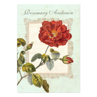 Beautiful Vintage Red Rose for Gardener Business Card