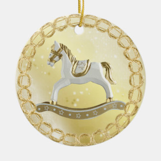 Beautiful Vintage Rocking Horse Festive Ornament
