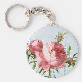 Beautiful vintage rose key ring