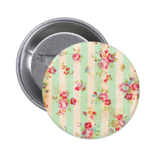 Beautiful vintage roses and other flowers 6 cm round badge
