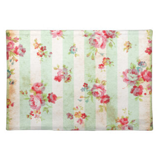 Beautiful vintage roses and other flowers placemat