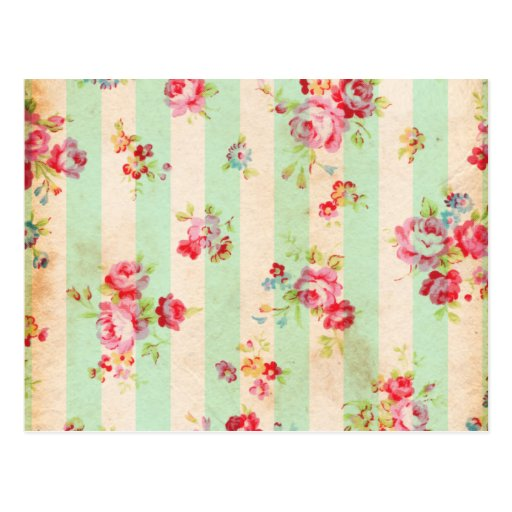 Beautiful vintage roses and other flowers post card