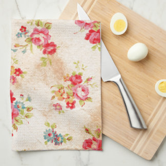 Beautiful vintage roses and other flowers tea towel